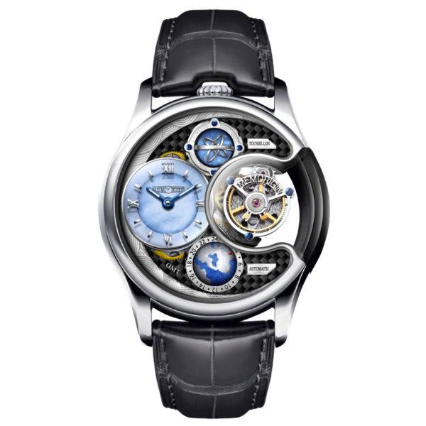メモリジン ステラ トゥールビヨン 腕時計 AT1118-SSBKBKR