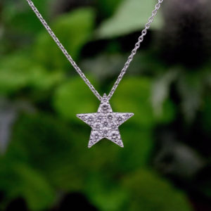 chouchou(シュシュ)K18WG 星型ダイヤモンド ペンダント