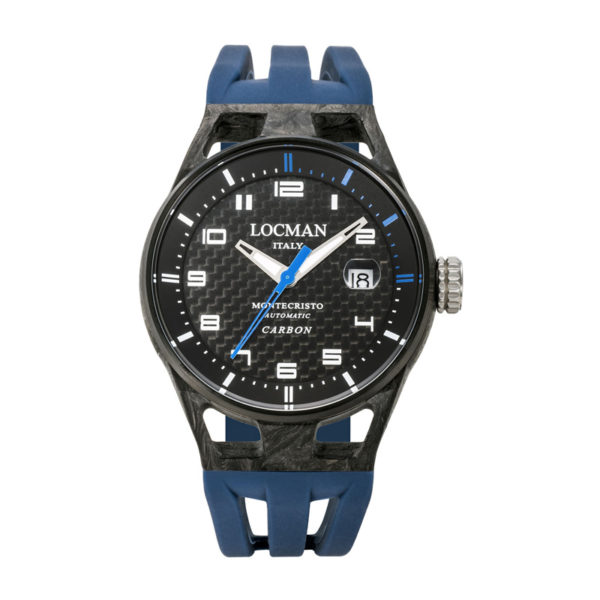 LOCMAN(ロックマン)モンテクリストカーボン 3針 自動巻き ブルー 0544C09S-CBCBWHSB