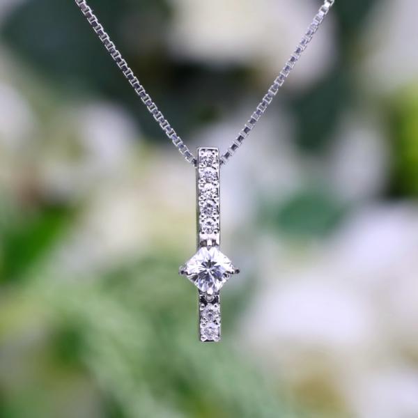 chouchou(シュシュ)PTフランダースカットダイヤモンド ネックレス