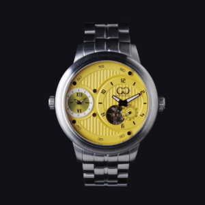 CURTIS & Co THE BIG TIME PASSPORT 52mm  YELLOW DIAL / STAINLESS STEEL SERIES